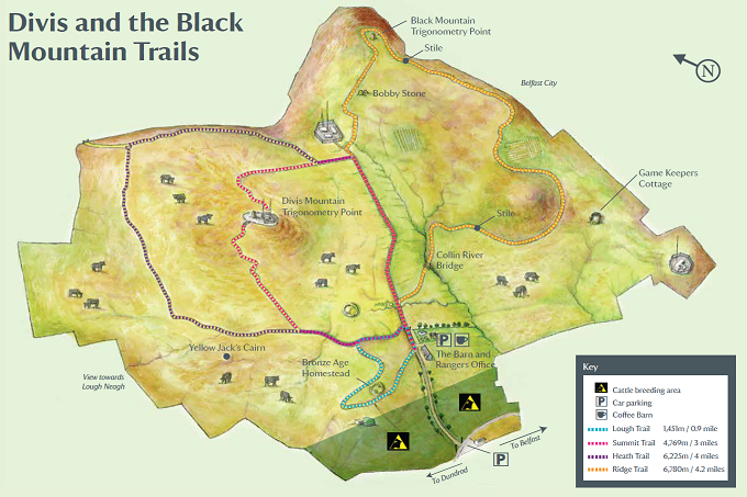 Divis & Black Mountains Trails